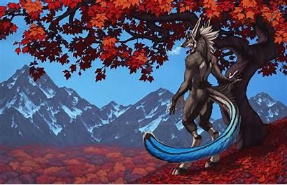 Furry Dragon Anthro Autumn Computer Season Animals