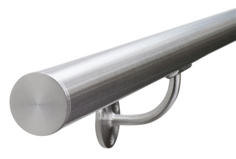 stainless steel banister brushed satin stainless steel stair handrail 320 grit