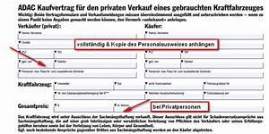 Kaufvertrag Kfz Privat Kostenlose Vorlage Kaufvertrag Privat