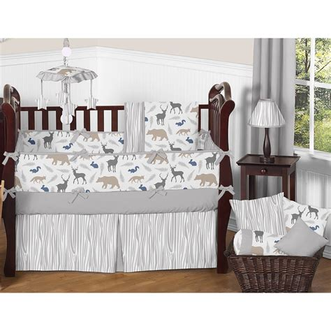 Sweet jojo designs mod jungle 11 piece crib bedding set has all that your litt. Sweet Jojo Designs Woodland Animals 9 Piece Crib Bedding ...