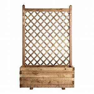 Bac En Bois Pour Plantes : bac rectangle nitida treillis en bois x x h ~ Dailycaller-alerts.com Idées de Décoration