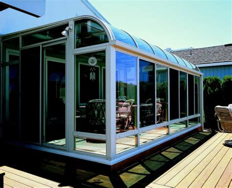 curved glass roof sunroom  patio room  aluminum frame