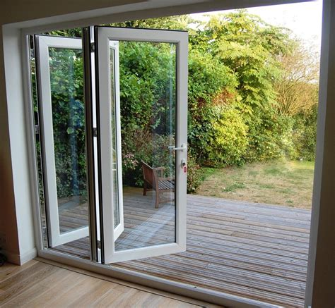white upvc 3 pane bifold doors 1 8 2 7m wide made to