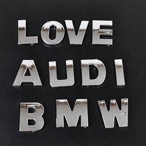 40pcs new 3d diy metallic alphabetnumber stickers car With metallic letter stickers