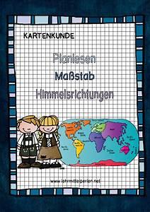 Maßstab Berechnen Grundschule : kartenkunde planlesen ma stab himmelsrichtungen schule ~ Themetempest.com Abrechnung