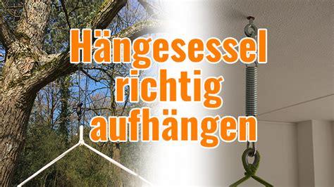 Schaukel An Holzbalken Befestigen by H 228 Ngesessel Richtig Befestigen Die Perfekte Aufh 228 Ngung