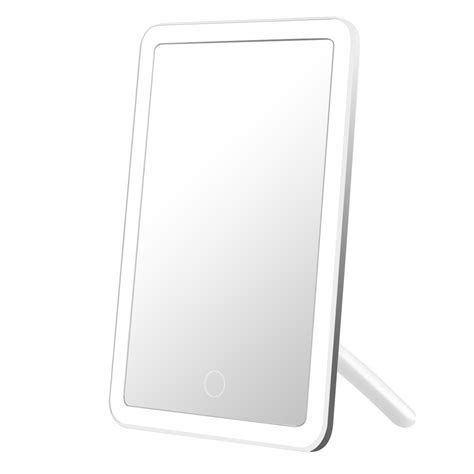portable makeup mirror with lights led vanity makeup mirror light dimmable usb rechargeable