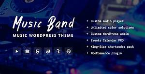 Music Band Live Event and Music Club Wordpress Theme by ...