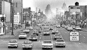 Detroit Michigan  Grand River Avenue Street Scene