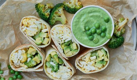 Receptes.lv - Zaļie brokastu burrito