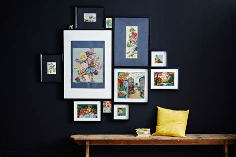 dessus de canape ikea hang a gallery wall with ribba frames