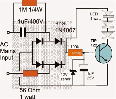 surge protected cheap transformerless hi watt led driver circuit circuit projects