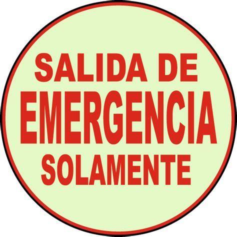 Spanish Emergency Exit Floor Sign SALIDAEM   by SafetySign.com