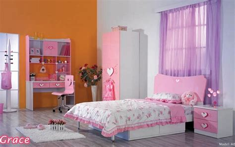Pink & White Girls Bedroom Furniture And Bedding Sets