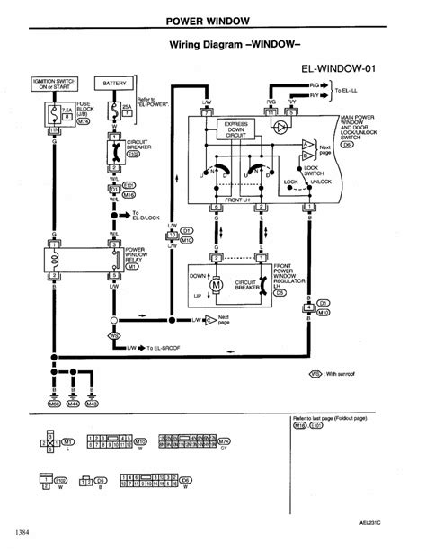 Window Wiring Harnes Diagram For 2003 Nissan Altima by Repair Guides Electrical System 1999 Power Window