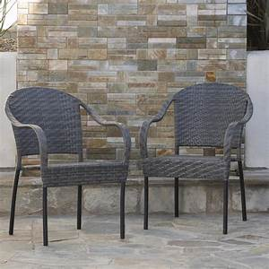 Noble, House, Sunset, Grey, Wicker, Outdoor, Dining, Chair, Set, Of, 2, -234409