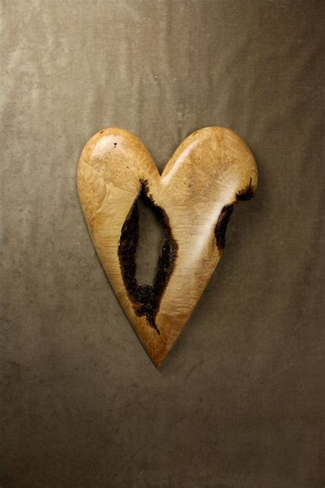 personalized anniversary gift  wife heart wood carving