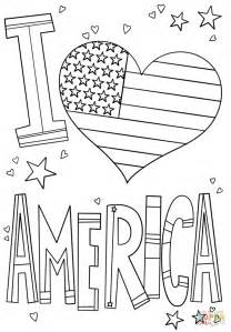 love america coloring page  printable coloring pages