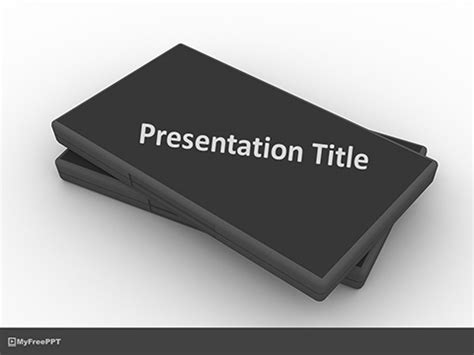 Cd Cover Template Powerpoint by Free Black Cd Covers Powerpoint Template Free