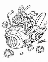 Coloring Alien Pages Space Harptoons Activity Sign Books Printable Tomorrow Newsletter Comes Issue sketch template