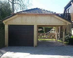 Holzgarage Mit Carport : walmdach carport holzgarage als individueller bausatz ~ Markanthonyermac.com Haus und Dekorationen