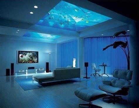 bedroom with an aquarium in the ceiling bedrooms and