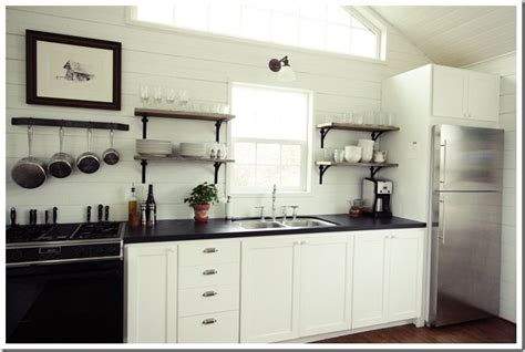 painting plywood kitchen cabinets small cabin kitchen tour white painted cabinets open 4062