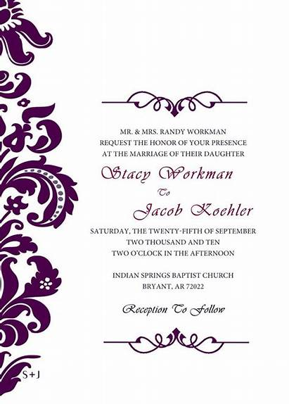Invitation Formal Template Templates Invitations Cards Designs