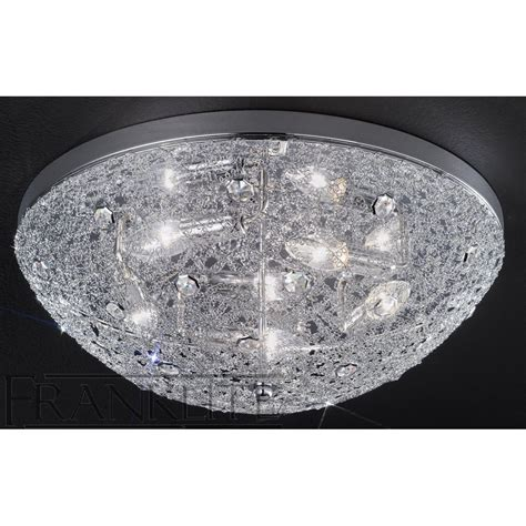 franklite fl2289 5 sirius chrome flush ceiling light