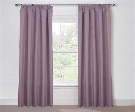 Twilight Lined Heather Pencil Pleat Blackout Curtains