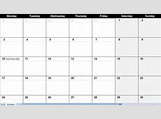 4 Best Images of Monthly Calendar Large Printable 2016