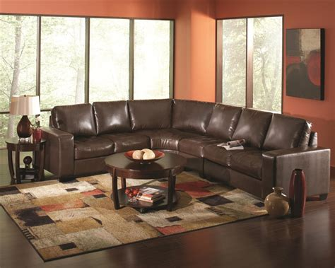 brown leather sectional howard brown leather sectional by coaster 503441