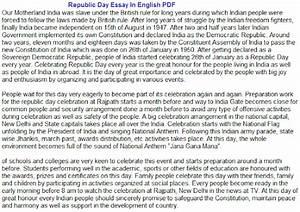 Argumentative Essay Topics High School Indian Republic Day Essay In Kannada Pdf Conscience Essay also Essay Paper Generator Indian Republic Day Essay Write Analysis Essay Indian Republic Day  Research Essay Proposal