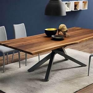 Table Bois Massif Design : table design en noyer massif pi tement mikado en m tal pechino midj 4 ~ Teatrodelosmanantiales.com Idées de Décoration