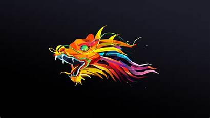 Simple Dragon Abstract Wallpapers Background Colorful Maller