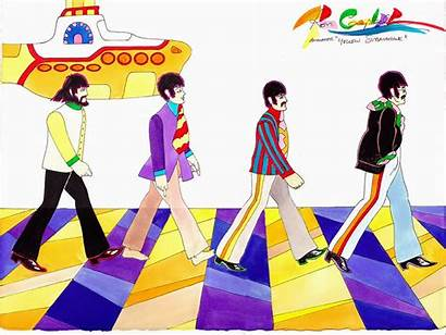 Beatles Submarine Yellow Ron Campbell Cartoon Abbey