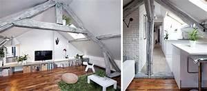 Appartement Sous Comble : 9 id es piquer ce superbe appartement sous les combles parfaitement optimis ~ Dallasstarsshop.com Idées de Décoration