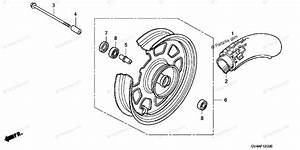 Honda Scooter 2004 Oem Parts Diagram For Front Wheel