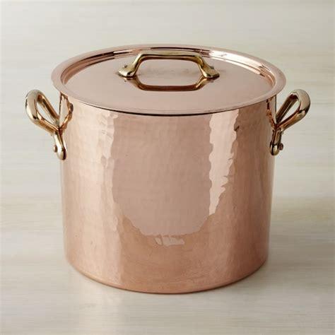 mauviel copper stock pot williams sonoma