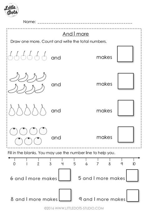 free addition worksheet suitable for kindergarten or grade 1 level understand the concept of 1