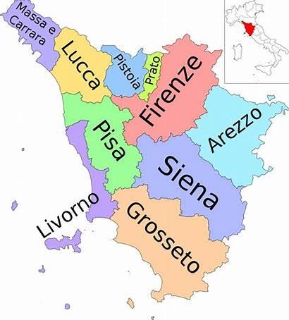 Tuscany Map Provinces Italy Svg Region Wikipedia