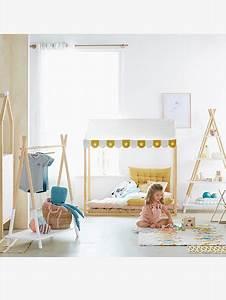 Lit Enfant Sol : cabane pour matelas de sol blanc motif vertbaudet ~ Nature-et-papiers.com Idées de Décoration