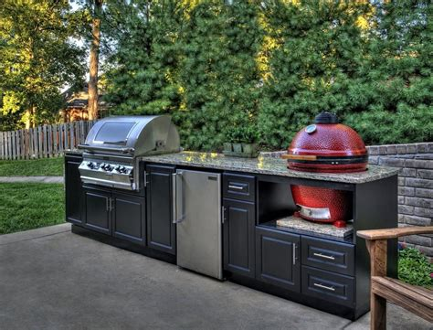 prefab outdoor kitchen cabinets custom outdoor cabinets for big green egg gas grills and 4394