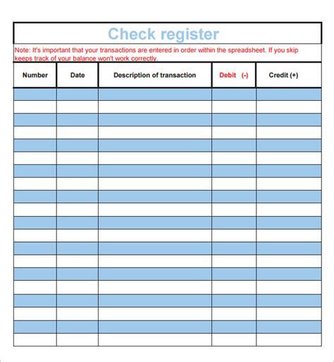 check register template excel 7 check register sles sle templates
