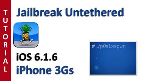 Leer Notas  Jailbreak Untethered Ios 616 Iphone 3gs