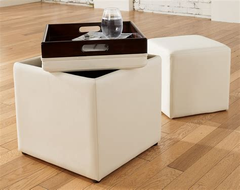 cube ottoman with tray furniture storage ottoman cube ideas that will bring a