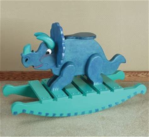 triceratops rocker woodworking plan trae arbejde