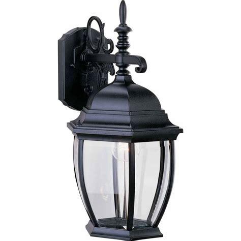 volume lighting 1 light black outdoor wall sconce v8231 5
