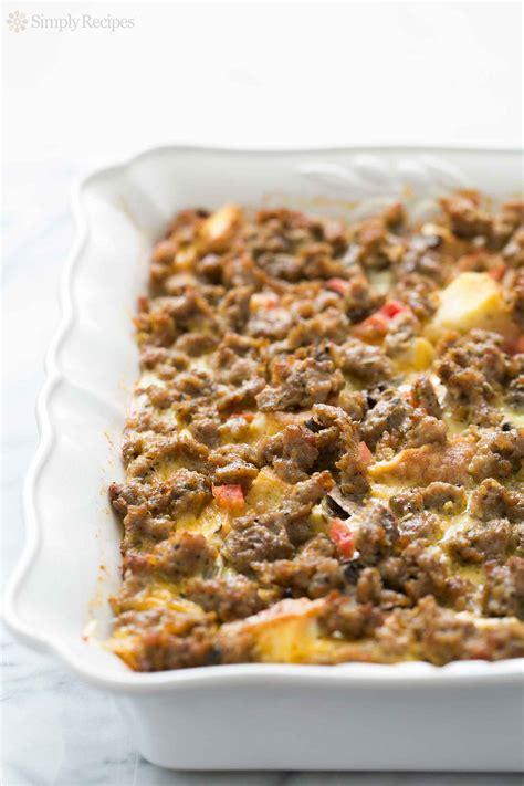 breakfast bake recipe sausage breakfast casserole recipe simplyrecipes com