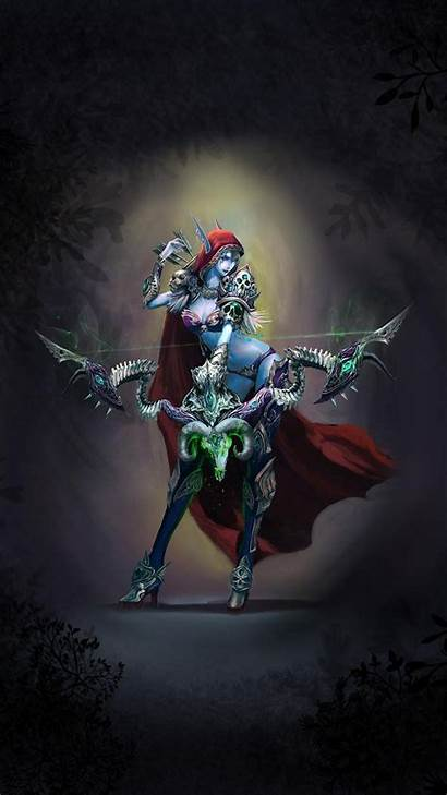 Warcraft Iphone Wow Wallpapers Phone Sylvanas Cell